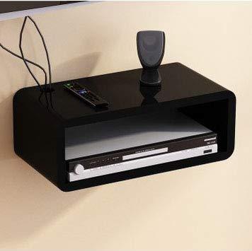 MTX Ltd Tablettes de Salle de Bains Routeur WiFi Set Top Box Tablette de Rangement Console Console Intérieur Maison Ménager Durable, Black-A
