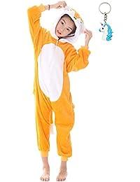 Landove Pijama Unicornio Niña Niño Mono Franela Kigurumi Animales Entero Unisex Sleepsuit Romper Homewear Onesie Cosplay