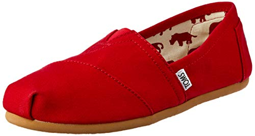 TOMS Herren Alpargata Classics Espadrilles Rot (Red Canvas) 42 EU - Schuhe Männer Rot Tom