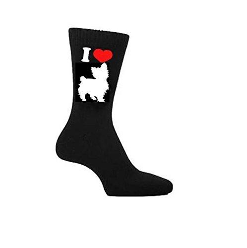 I Love calze da uomo, Yorkshire Terrier Cina Tazza e Sottobicchiere o. Heat premuto regalo (Yorkshire Terrier Coaster)