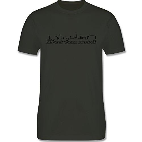 Skyline - Dortmund Skyline - Herren Premium T-Shirt Army Grün