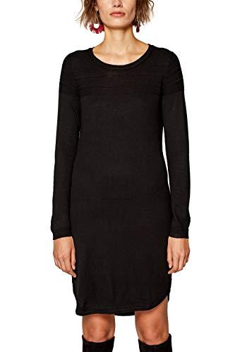 ESPRIT Damen Kleid 088EE1E001, Schwarz (Black 001), Medium