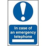 Spectrum Industrie 424,2cm in Case of Emergency Telefon Selbstklebende PVC-Zeichen, mehrfarbig, 200x 300mm
