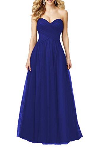 Bridal_Mall - Robe de mariage - Trapèze - Sans Manche - Femme Bleu roi
