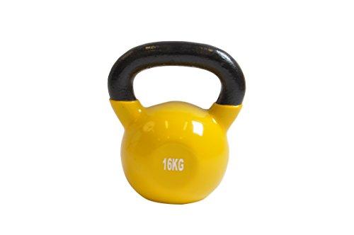 Kettle Bell Concept – 16 kg – FITNESS Crossfit musculación – neopreno – Toma en mano agréable – hombre mujer – principiantes & Expert