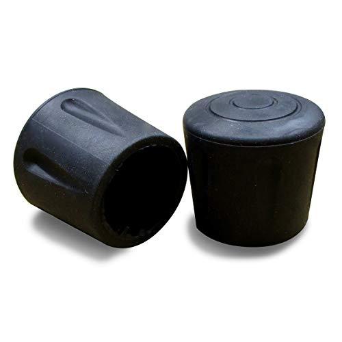ajile Fusskappe Rohrkappe aus Verstärktem Vulkanisiertem Gummi SCHWARZ für Tisch- Stuhlfüsse Möbelfüsse mit 16 mm Durchmesser - 16 Stücke - EVS116x16-FBA