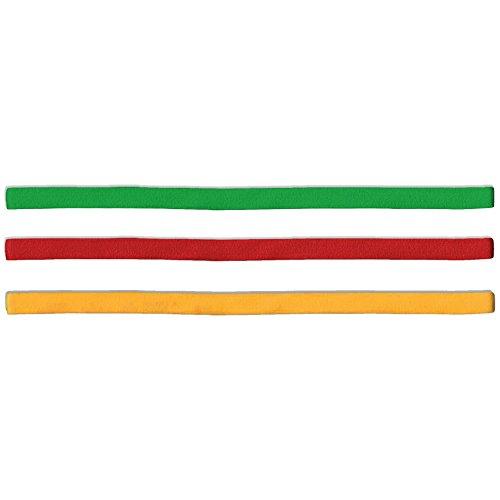 55Sport Unisex Stirnbänder, elastisch, schmal–3er-Pack Gr. Einheitsgröße, Rasta Pack - Adult Shirt Swim