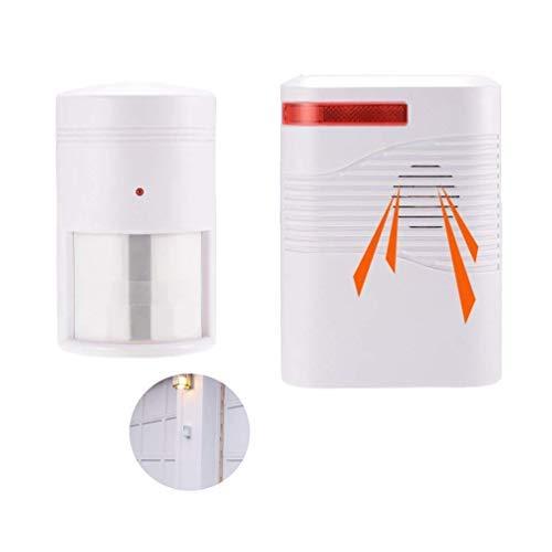 Wireless Home Security Auffahrt Alarm, Infrarot PIR Bewegungsmelder Home Security System mit 1 Empfänger und 1 Sensor Alarm System Kit Batteriebetrieben (Alarm Auffahrt Bewegungsmelder)