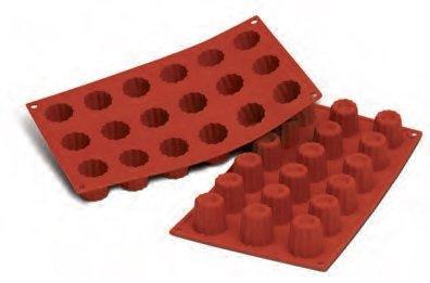 FaisTonGateau - Moule flexible en silicone 18 mini-cannelés - 18 Empreintes à mini cannelés