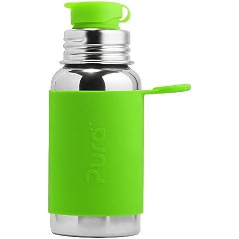 Pura Sport 18oz in acciaio inox con tappo flip Sport in silicone, Plastica, certificato, non tossico, senza BPA