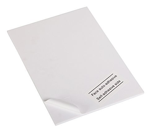 Clairefontaine 93626C Packung (mit 20 Schaumkartons, selbstklebend, DIN A2, 42 x 59 cm, 5 mm, ideal für Modellieren und Dekorationsarbeiten, leicht und einfach zu bearbeiten, chlorfrei) 20er Pack weiß 20 X 42 Satin