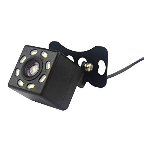 JOYFORWA Universal-Rückfahrkamera mit 170 ° Blickwinkel und 8 LED-Nachtsicht für Android GPS-Navigation Universal Reverse-rückfahrkamera
