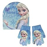 Disney Die Eiskönigin 2200-2461 Kinder Winter Set, Beanie Mütze und Handschuhe, Funkeln, Eine Größe, Mehrfarbig, Elsa