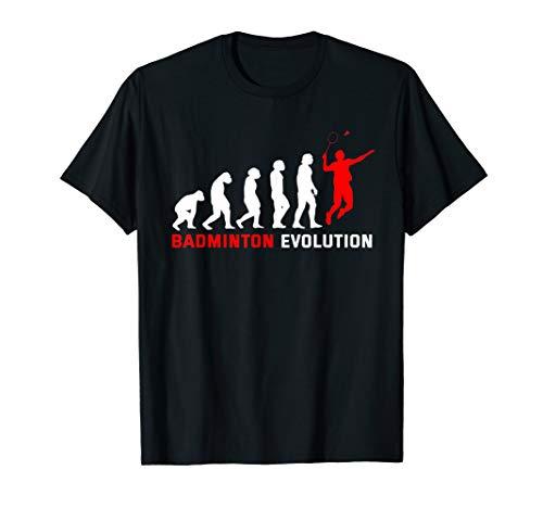 Lustig Evolution Badminton Hobby Federball T-Shirt