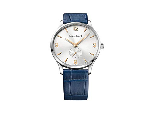 Louis Erard 1931 Automatic Watch, Silver, Blue Leather Strap, 47217AA11.BEP03