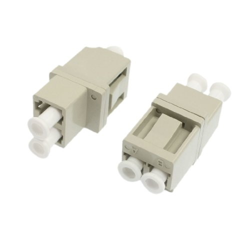 sourcingmap-lc-to-lc-mm-flanged-duplex-fiber-optic-connector-pack-of-2