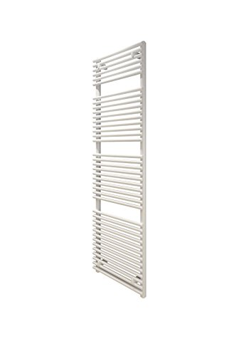 Dual-fuel-single (Stelrad Arno Single Panel Weiß Designer Beheizte Handtuchhalter, stahl, weiß, 792mm x 500mm Dual Fuel - Thermostatic)