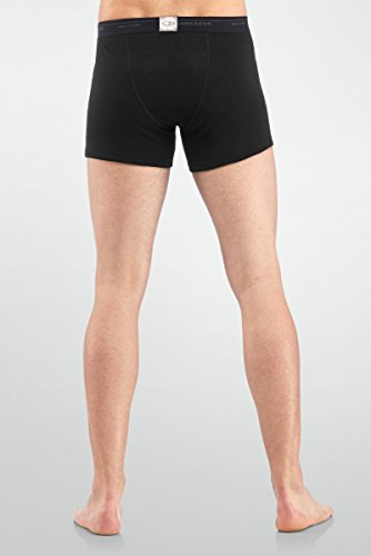 Icebreaker Herren Everyday Boxers w Fly Black