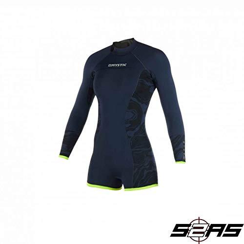 Mystic Watersports - Surf Kitesurf & Windsurfing Damen Diva 2mm Rücken Zip Long Arm Shorty Wetsuit Navy