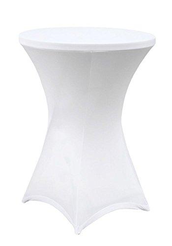 Stehtischhusse Husse für Stehtische Stretch white Ø 60cm