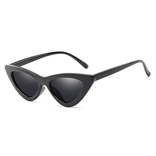 Frauen Weinlese Farbspiegel Sonnenbrille hibote Sexy Dreieck Katzenaugen Sonnenbrille C1