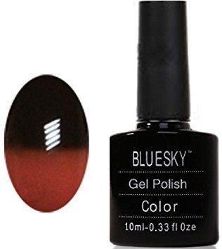 Bluesky UV LED Gel auflösbarer Nagellack - Temperatur Farbe verändert - chocolate liquer, 1er Pack (1 x 10 ml)