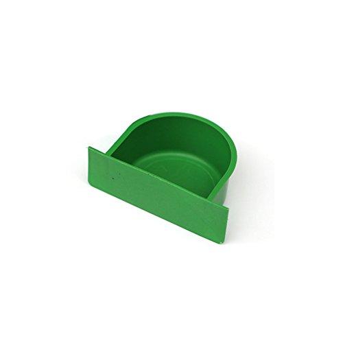Excellent112 Vogelfutter Futternapf, Halbkreis Form Kunststoff Grün Vogelfutter Wasser Feeder Futternapf Vogelkäfig Utensilien Zusatzgeräte