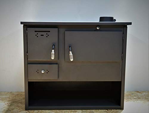 Estufa de leña, horno de cocina de combustible sólido, chimenea superior 7,5...