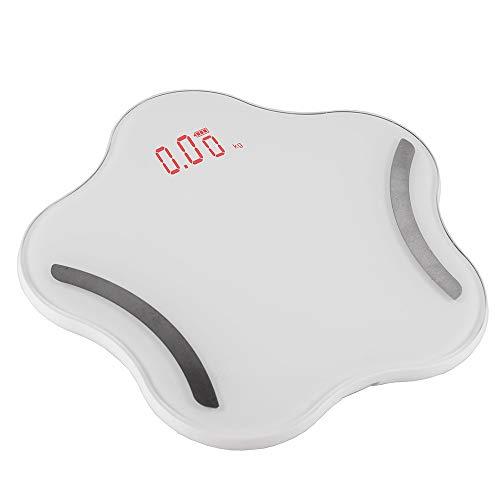 Wawer LCD-Display Körperfettwaage Sterne Personenwaage Zuhause Bluetooth Smart Elektronische Waage Präzision BMI Waage/Körperfettanteil / Muskelfrequenz/Knocheninhalt / Grundumsatz (Weiß)