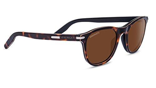 Serengeti Eyewear Erwachsene Volare Sonnenbrille, Satin Tortoise Satin, Medium