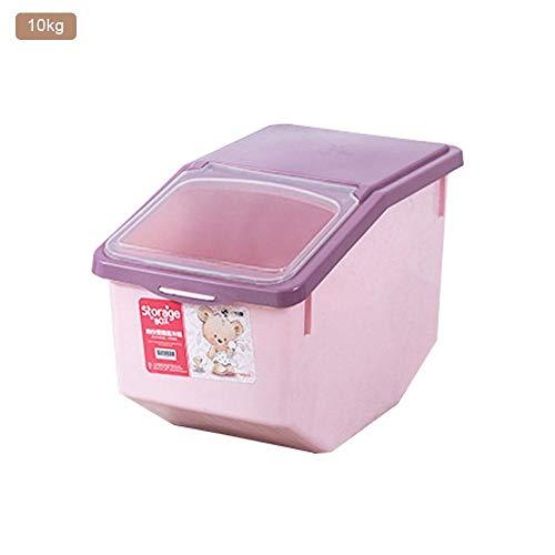 Cherishly Caja de Almacenamiento de Cereales a Prueba de Humedad - Recipiente Sellado de plástico de Gran Capacidad con Tapas para Almacenamiento Dispensador de Cereales de arroz seco (5kg/10kg/15kg)