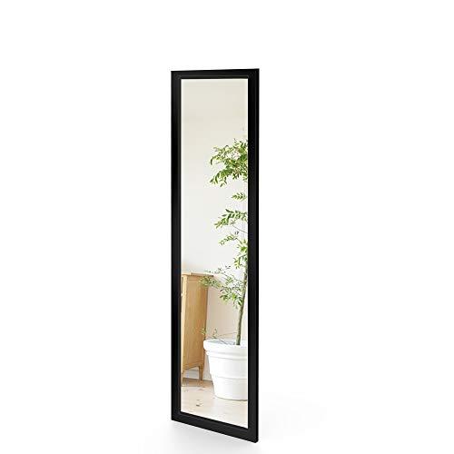 Dripex Wandspiegel 33x109cm Spiegel unbrechbarer Garderobenspiegel Flurspiegel höhenverstellbarer Hängespiegel mit Haken (Schwarz)