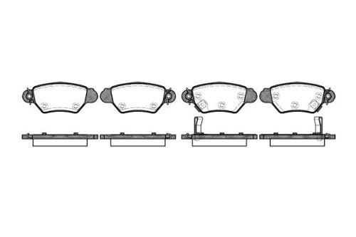 Preisvergleich Produktbild Remsa Bremsbelagsatz für Scheibenbremse,  0685.02
