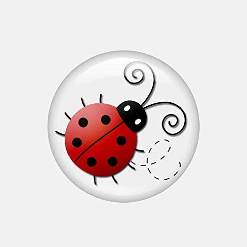 12.3Cmx12.3Cm Cute Ladybug forma etiqueta engomada