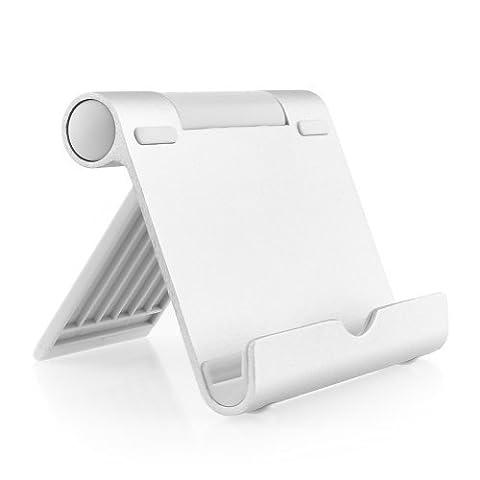 AUKEY Tablet Halterung Multi-Winkel Aluminium Tablet Ständer für Tablets , E-Reader und Smartphones wie iPhone / iPad Air / iPad Mini , Google , Samsung Note 8 / S8 , Sony usw. - Silber