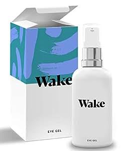 Wake Skincare Eye Gel - Hydrating Eye Serum for Puffy Eyes, Dark Circles, Eye Bags, Crows Feet and Wrinkles – Vitamin E – Collagen - 30ml Anti Ageing Eye Cream