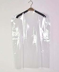 50 x sacs en plastique poly thyl ne transparent 137 2 cm housses pour v tements pour robe sec. Black Bedroom Furniture Sets. Home Design Ideas