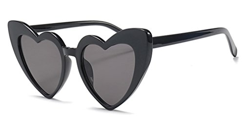 Love heart occhiali da sole da donna cat eye vintage christmas gift black pink red heart shape occhiali da sole per le donne full black