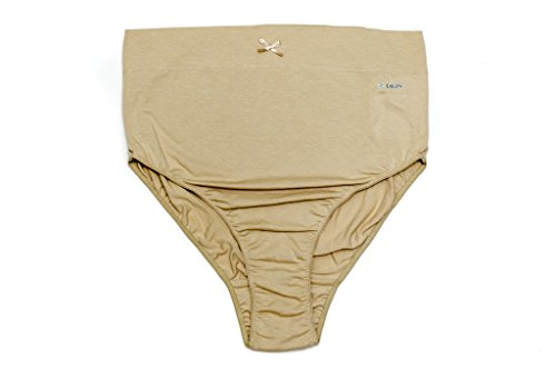 Bamboo and Organic cotton Pregnancy Panty || Maternity panty || Over the bump Panty || Extremely comfortable maternity panty (Skin) (Skin, Large)