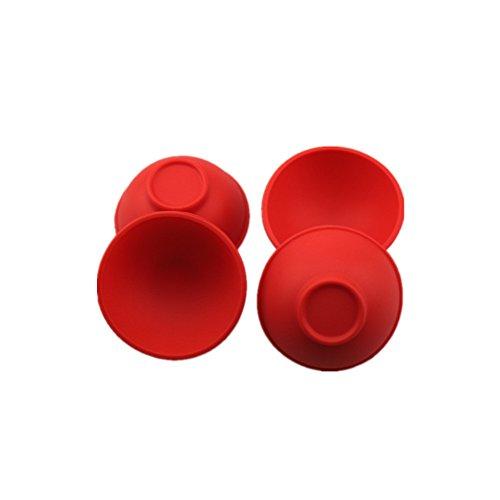 """atekuker pequeño silicona cuenco-juego de 4utensilios de cocina (L) 2,64\""""* (D) 1.18\"""" rojo cuencos para salsa sal azúcar mantequilla crema mayonesa ensalada vajilla herramientas"""