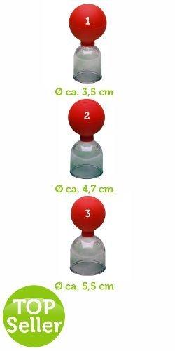 Schröpfglas Noz aus Acryl mit Ball Gr. 3 Ø 4,7cm