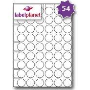54-per-page-sheet-5-sheets-270-round-sticky-labels-label-planetr-white-blank-plain-matt-self-adhesiv