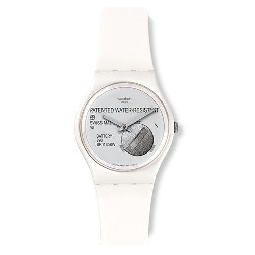 Swatch GW170 - Orologio da polso Unisex, Silicone, colore: Bianco
