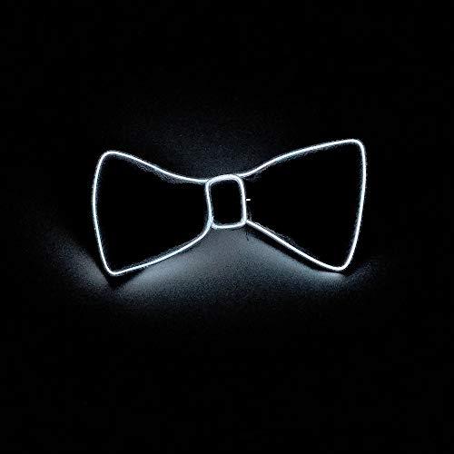 TianranRT Halloween Licht Auf Hals LED Fliege Krawatte Männer/Jungen Licht Auf Fliege Krawatte (Weiß)
