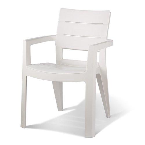 Keter - Silla de jardín exterior Ibiza, Color blanco