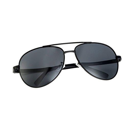 Youngdo-UV400-Gafas-de-Sol-Polarizadas-Unisex-Gafas-Redondas-Deportivas-de-Aluminio-y-Magnesio-Marco-Irrompible-para-Pesca-con-Caa-Conduccin-Golf-y-Correr-Negro