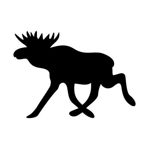 Elch Aufkleber Tieraufkleber Rentier Autoaufkleber (SCHWARZ)