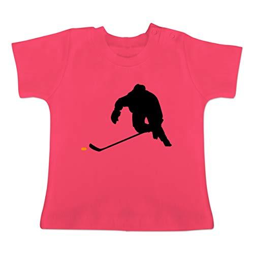 Sport Baby - Eishockey Sprint - 18-24 Monate - Fuchsia - BZ02 - Baby T-Shirt Kurzarm -
