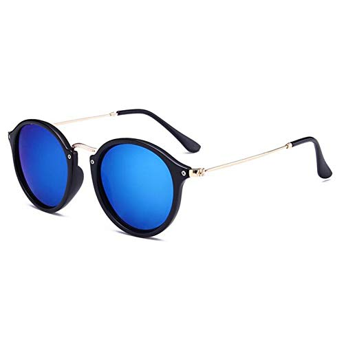 KCJKXC Retro Runde Sonnenbrille Frauen Brille Spiegel Kreis Sonnenbrille Männer Shades Schildkröte Rahmen Sonnenbrille Vintage Brillen