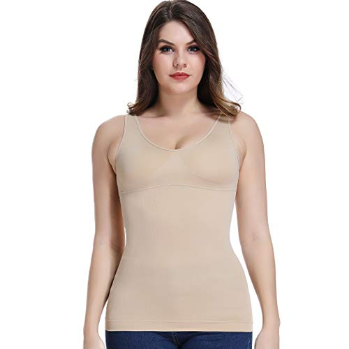d36047ada Joyshaper Shaping Control Vest Tops for Women Cami Camisole Slimming Tummy  Control Compression Tank Shirt Padded